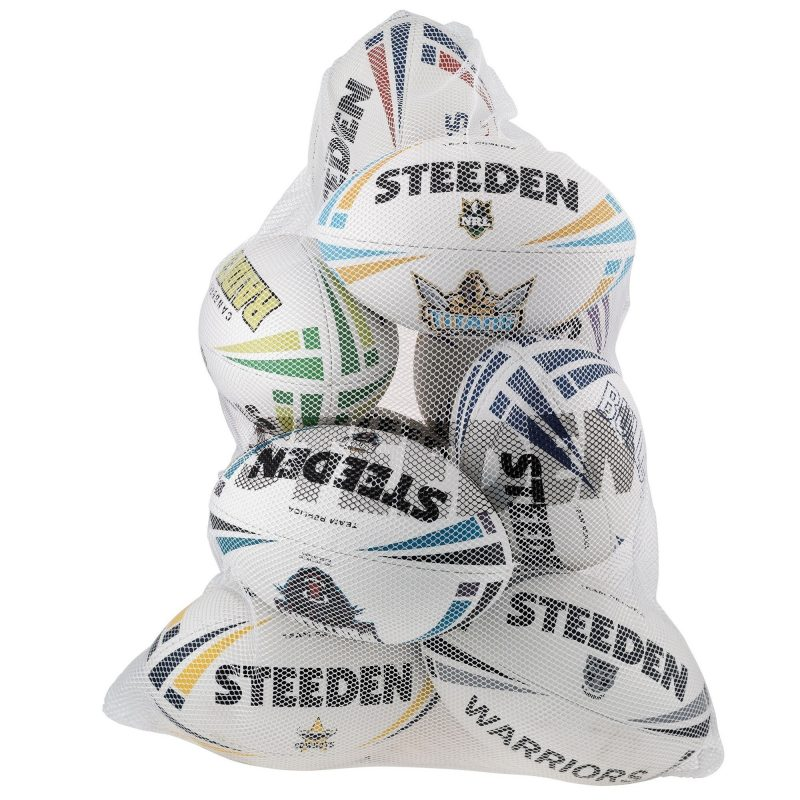Steeden White Mesh Rugby Ball Bag
